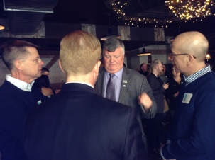 Mayor Elliott at the book lauch for Channel of Peace by Kevin Tuerff