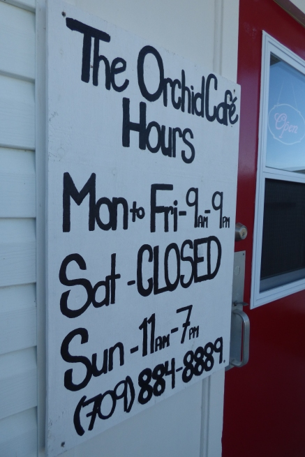 These hours are great as there is another cafe in Twillingate that opens on Saturday as part of their winter hours.